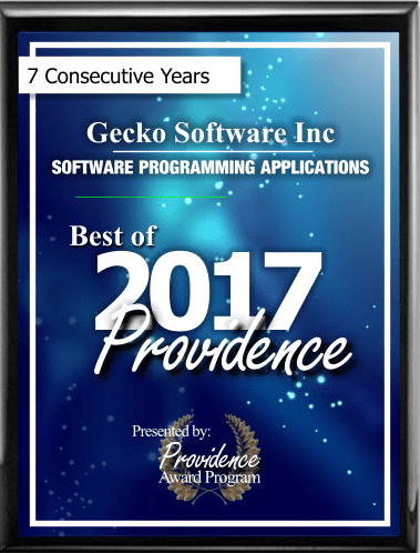 Best of Providence Gecko Software 2017 7 consecutive years