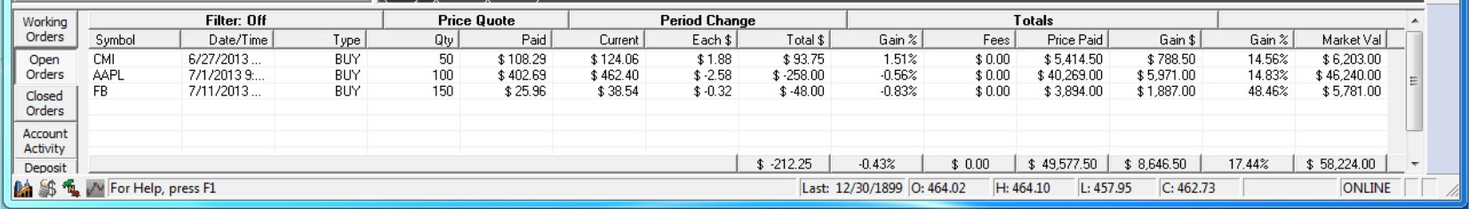 Gecko Software Track N Trade Stocks